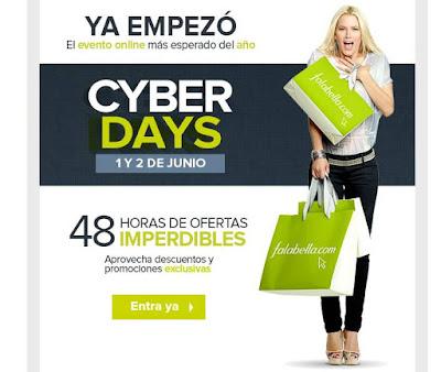 Cyber Day de Falabella junio 2015