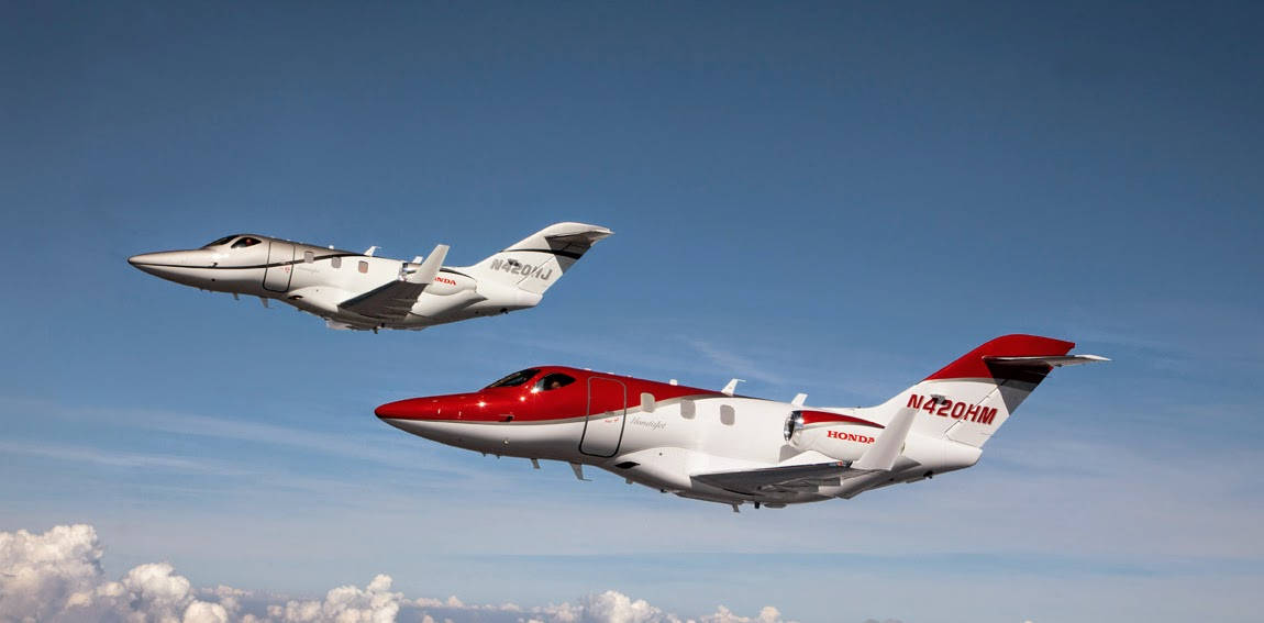 Honda flies to the skies, launches first business jet