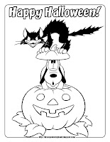 halloween coloring pages pluto on pumpkin