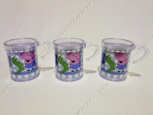 Lembrancinhas Personalizadas George Pig Canequinhas