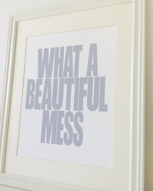 What a Beautiful Mess art print, via Paper Plane Prints