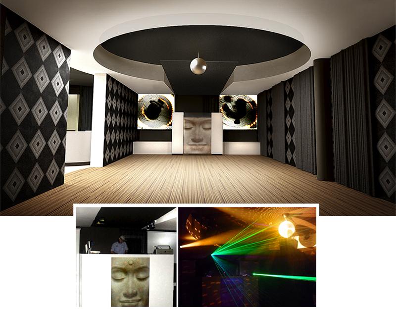 Dance floor. The Golden Club Restaurant & Dance design by Somerset Harris