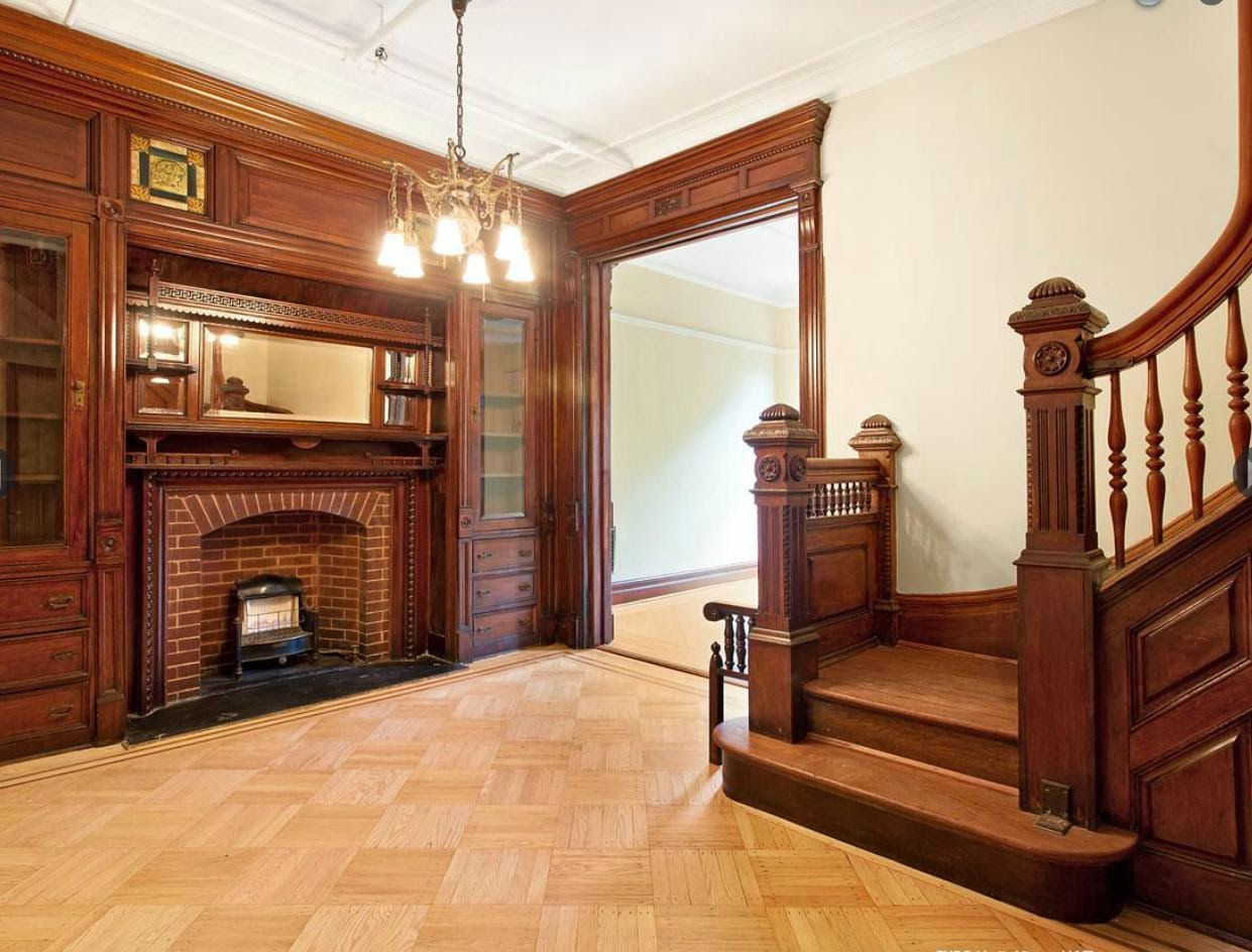Victorian gothic interior style Brooklyn brownstone interior