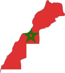 Morocco-Flag map