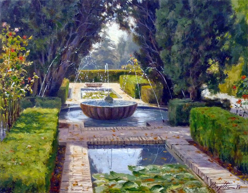 Pintura p ter bojthe mayo 2014 for Jardin botanico granada precio
