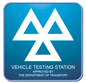 MOT Logo, Test Centre sign,