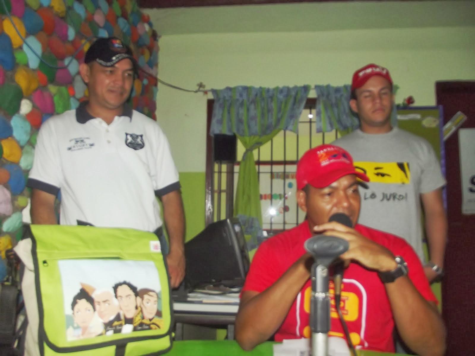 EL PROTECTOR DE TINAQUILLO  COMANDANTE YOYOTE HABLO SOBRE LA ENTREGA DE BOLSOS ESCOLARES