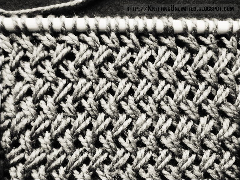 Cross Knit Loop Stitch : Cross Stitch (similar to herringbone stitch) Knitting Unlimited