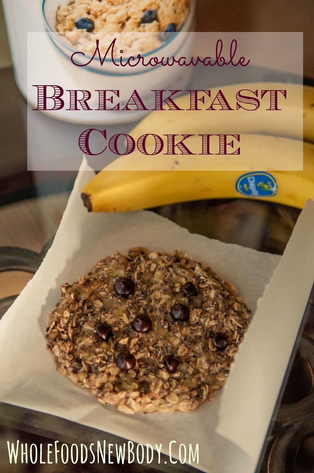 Microwavable Breakfast Cookie