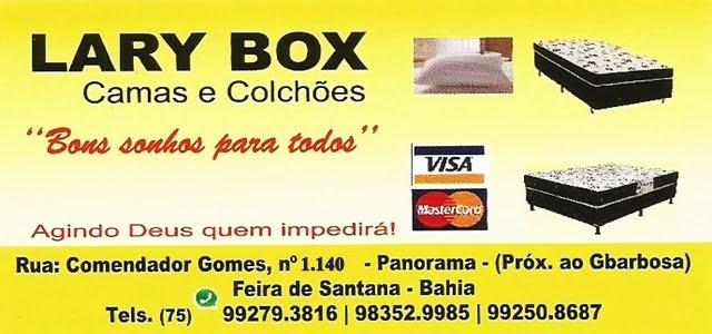 LARY BOX CAMAS E COLCHÕES