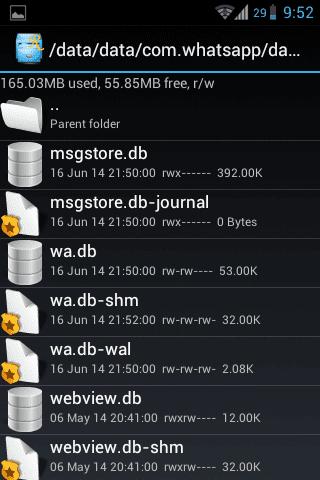 Find The Database of Whatsapp via SQlite Editor