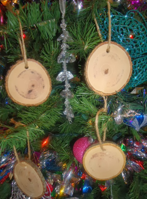 rustic 4 weddings  diy wood christmas ornaments