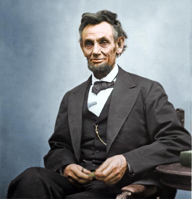 Abraham lincoln colorized portrait