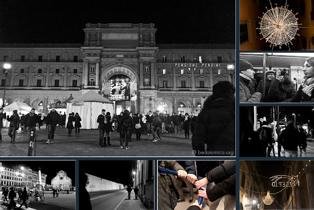Bedarumica Firenze attraversando il centro a fine anno in direzione Scandicci