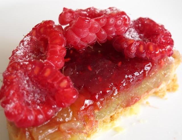 Pâtisserie Blé Sucré - Tarte rhubarbe framboise