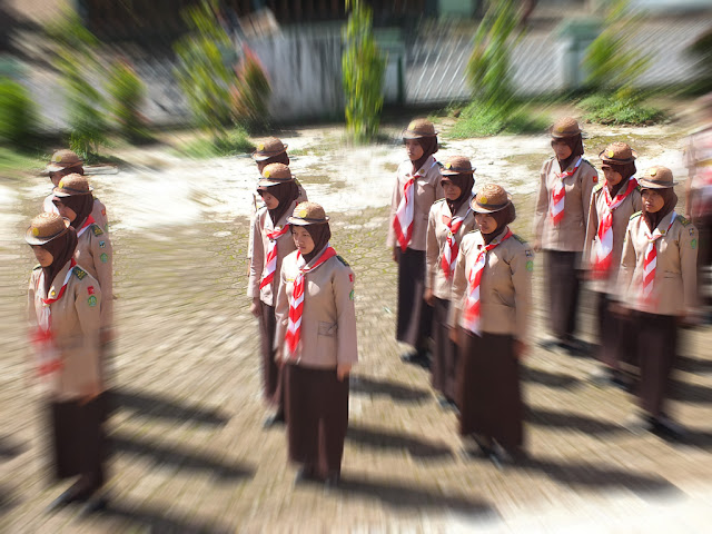 Latihan LBB bersama Kaka Bantara MA Nurul Huda