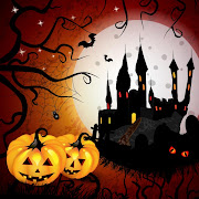 18. Free vector Halloween hunted house Background