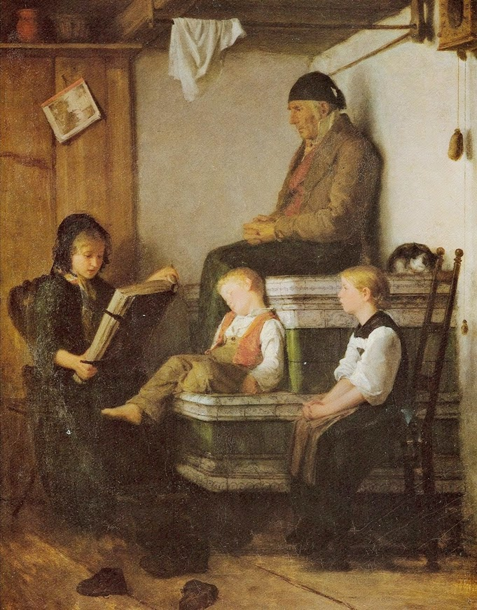 sunday school,albert anker,painting review