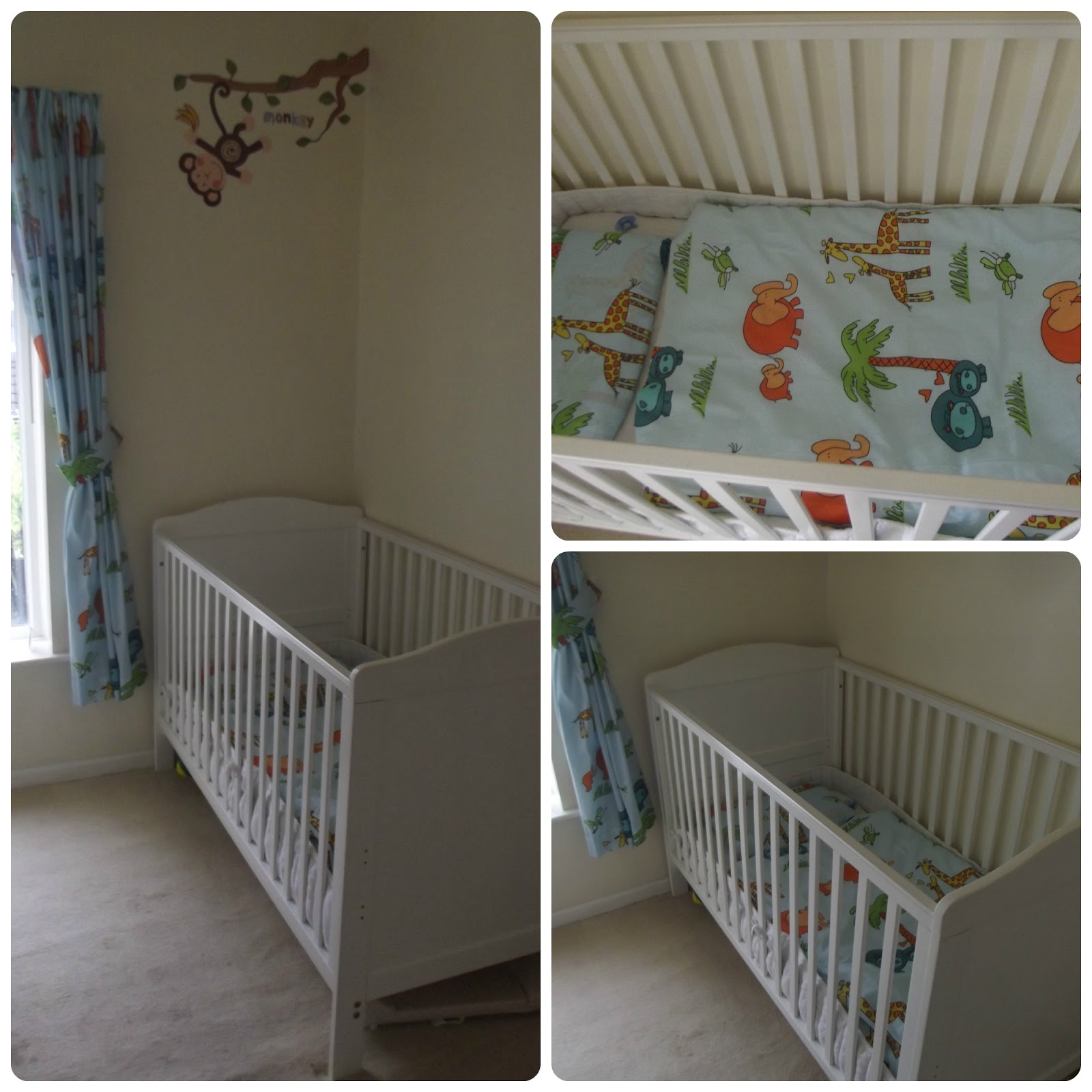 Safari Bed Linen Cot Monkey