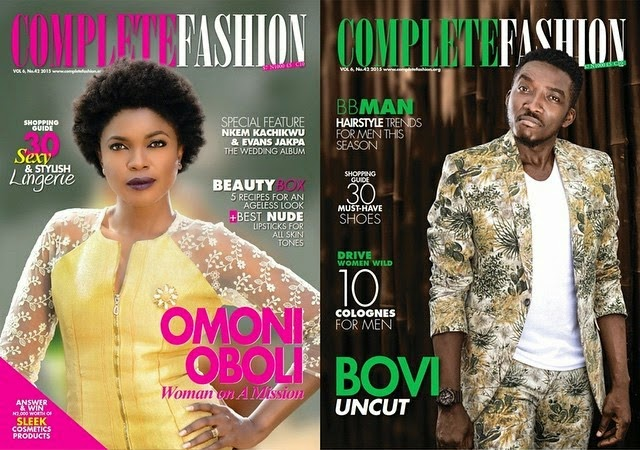 On a Mission! Omoni Oboli & Bovi Cover the Latest Issue of Complete Fashion Magazine