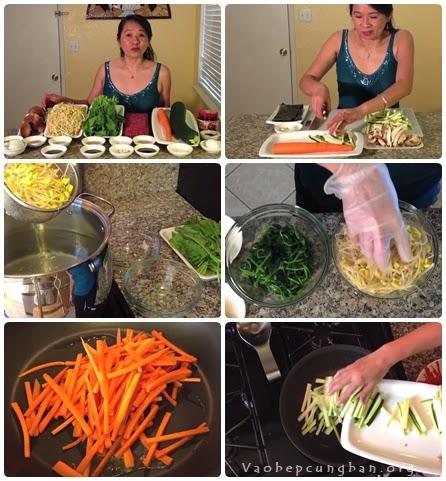 Cách làm Bibimbap cơm trộn 1