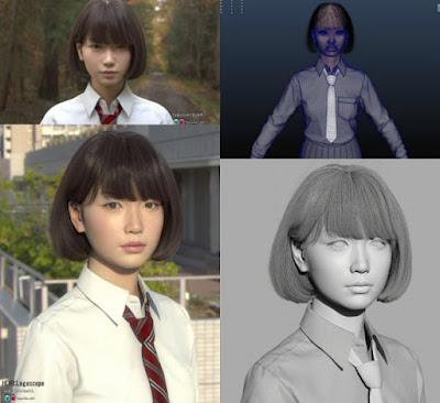 Arte Digital En 3D Retratos Saya