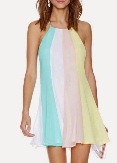 Vestido Corto Colorido Para Verano