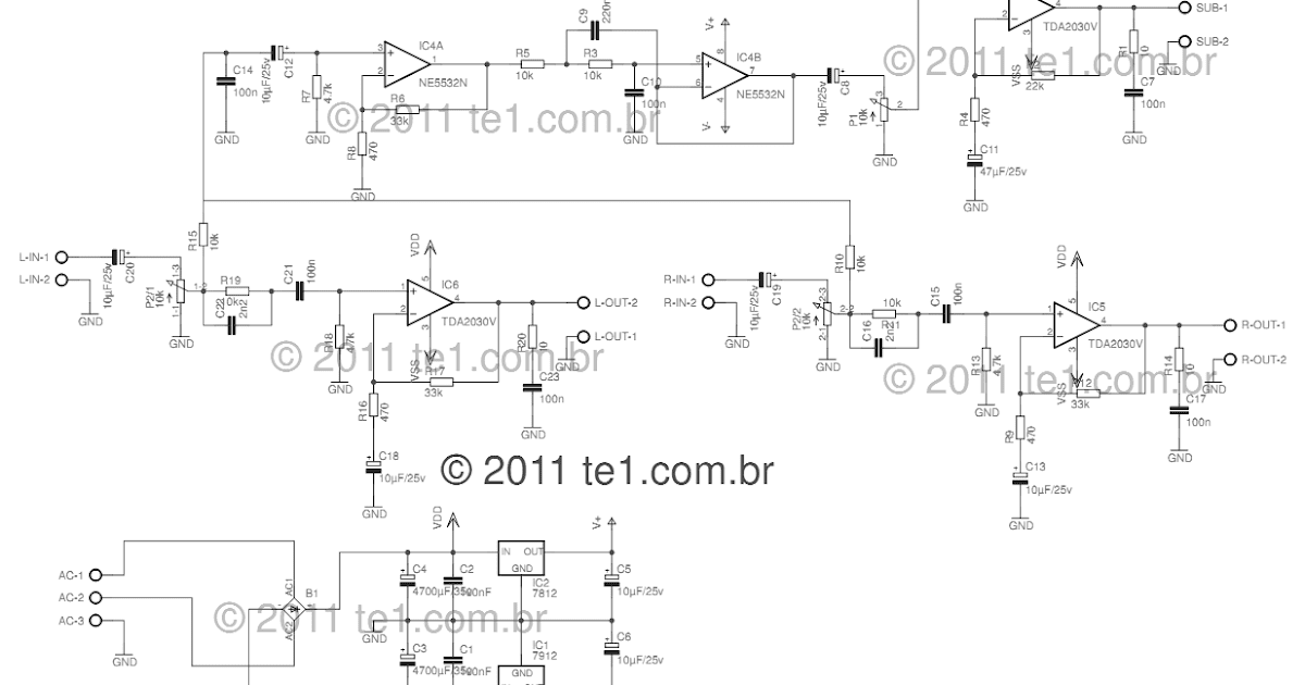 Using+TDA2030+Power+audio+Amplifier+Circuit+Diagram  Channel Amp Wiring Diagram Quot Bandp on