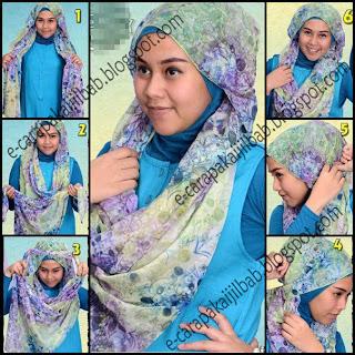 Tutorial cara pakai jilbab pashmina Simply necklace