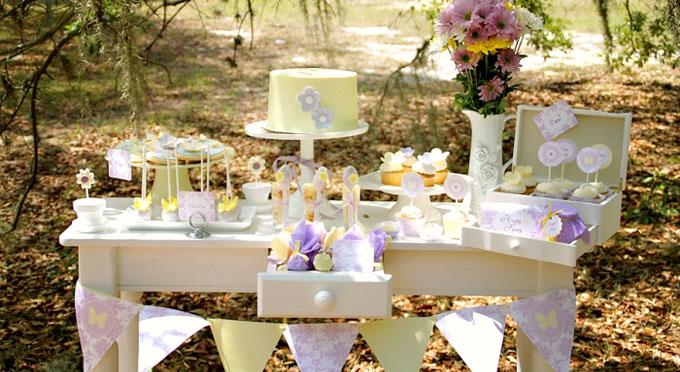 mesas dulces sencillas para boda