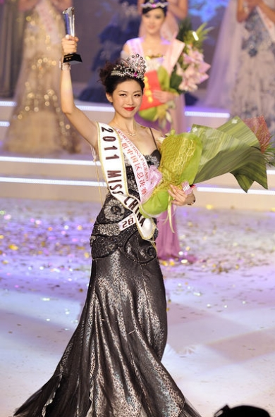 miss china world 2011 winner liu chen