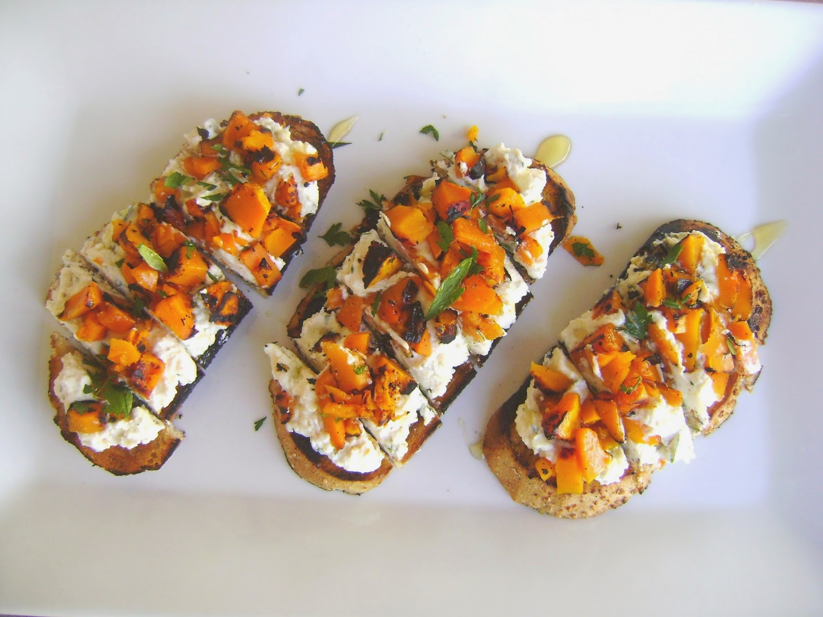 mysavoryspoon: Grilled Butternut Squash Bruschetta