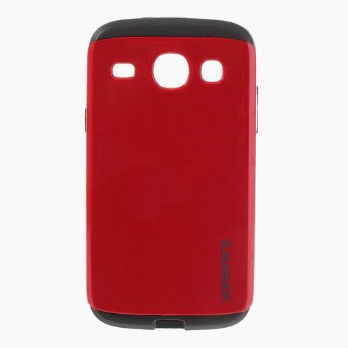Slim Armor TPU & PC Hybrid Case for Samsung Galaxy Core I8260 I8262 - Red