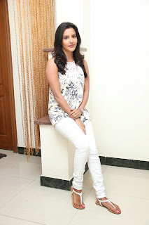 Priya Anand Latest Pictures in Jeans at Oru Oorla Rendu Raja Interview