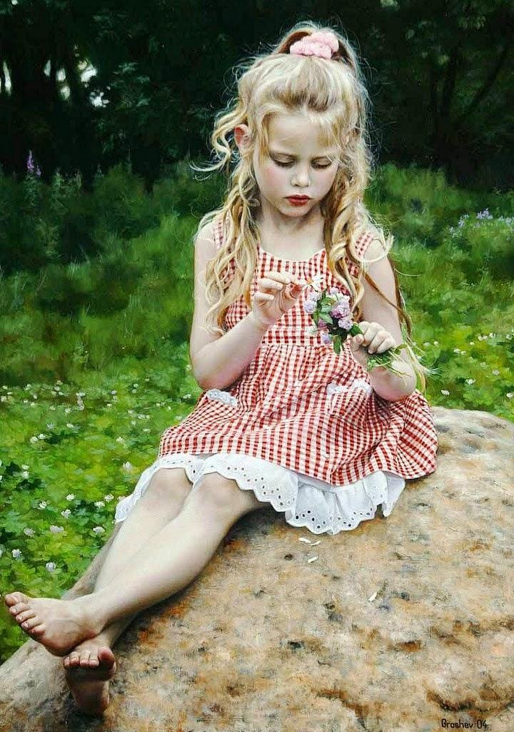 niñas-pintados-al-oleo
