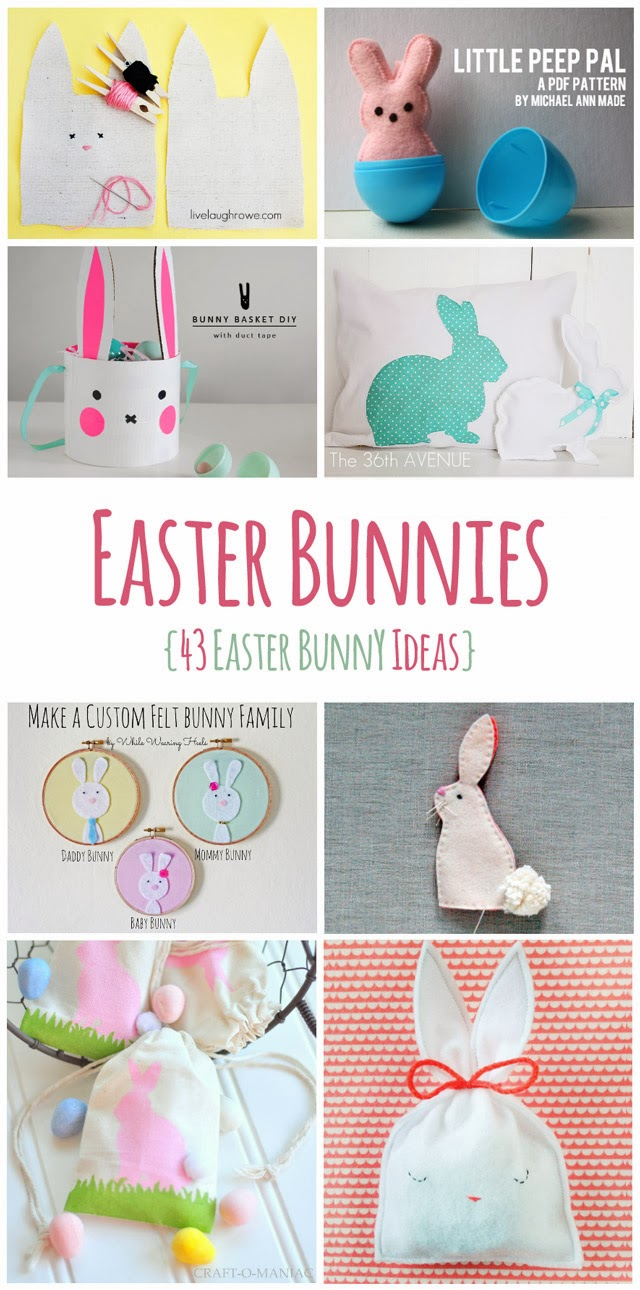 http://thediydreamer.com/easter/43-easter-bunny-ideas/