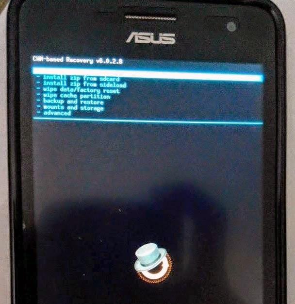 Install CWM Recovery di Asus Zenfone 5 Terbaru   Tanpa PC!