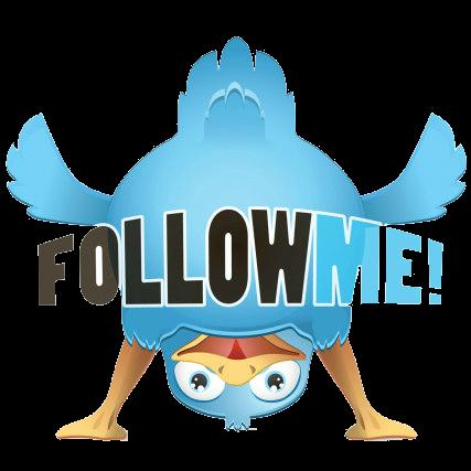 Птичка Twitter в уголке блога на платформе Blogspot