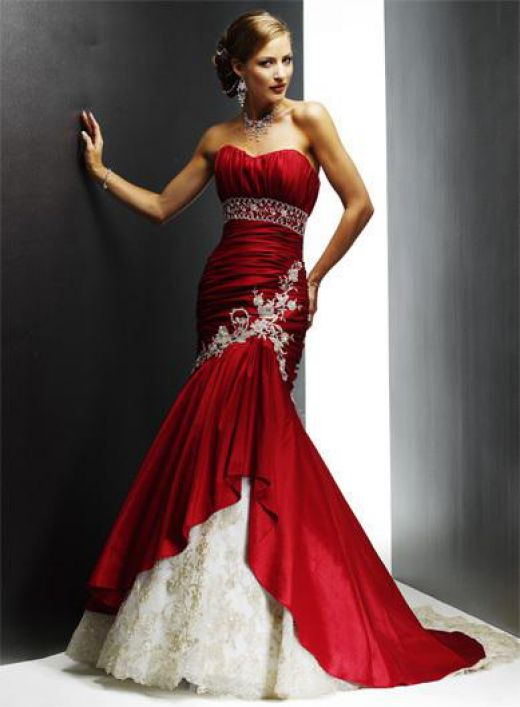 Bloody Red Wedding Gown Bridal Dresses