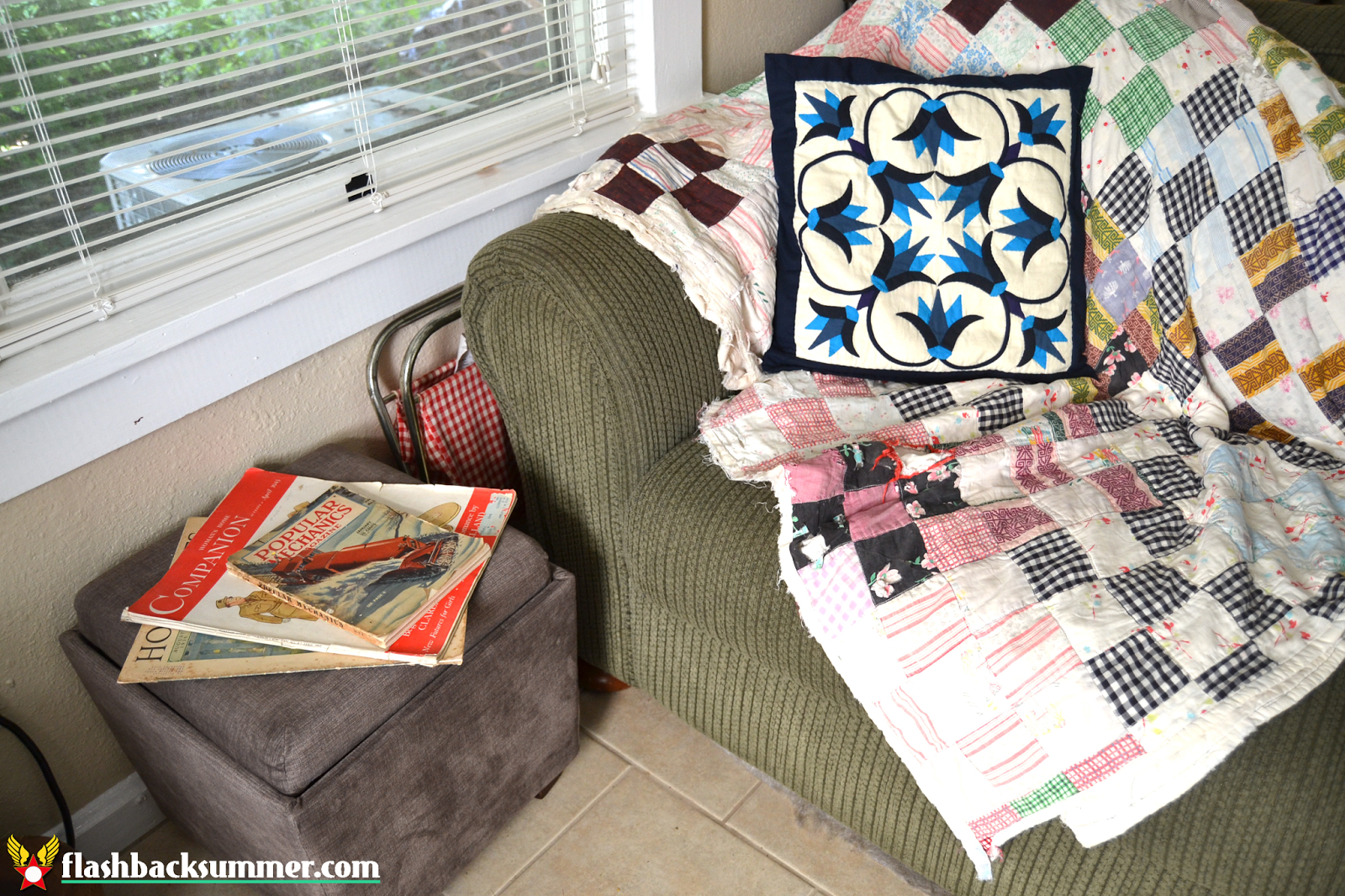 Flashback Summer: My Not-a-Magazine-Shoot Living Room