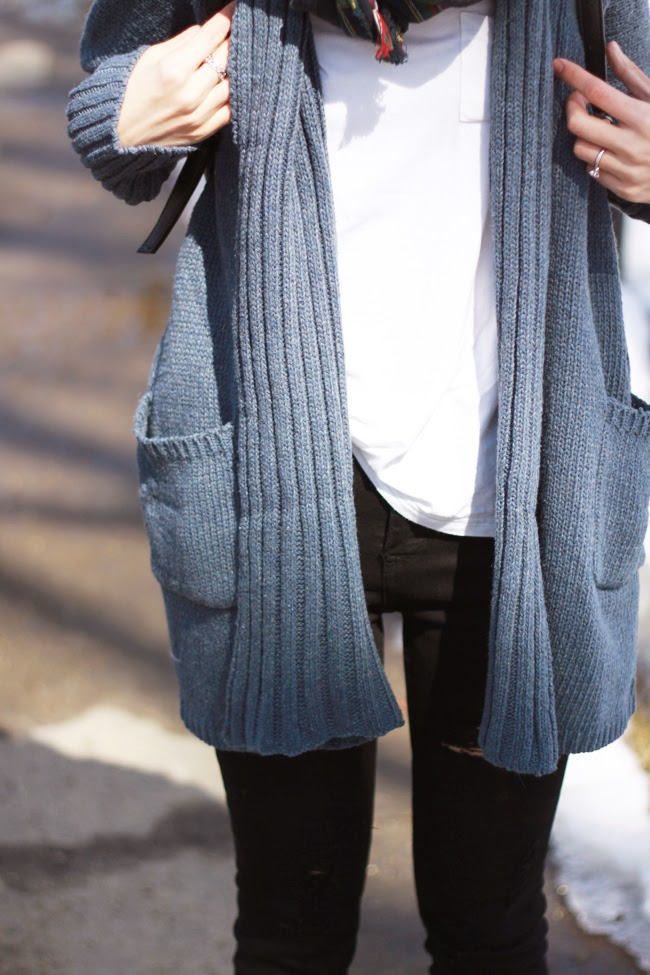 cardigan, sweater coat, online store, spring, blue cardigan, blue and black outfit, ootd