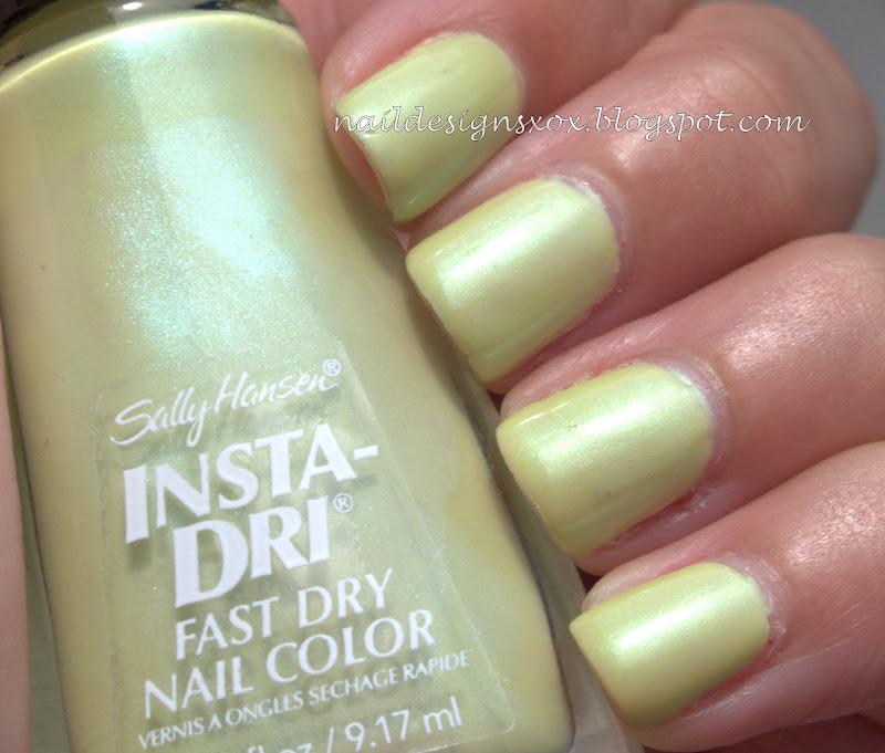 Nail Designs: Sally Hansen Insta-Dri Chartreuse Chase