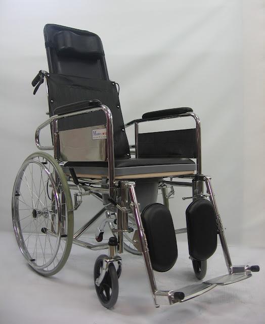 JUALKerusi roda boleh duduk dan tidur bertempat tandas 坐厕可坐臥轮椅坐厕轮椅 Commode reclining wheelchair
