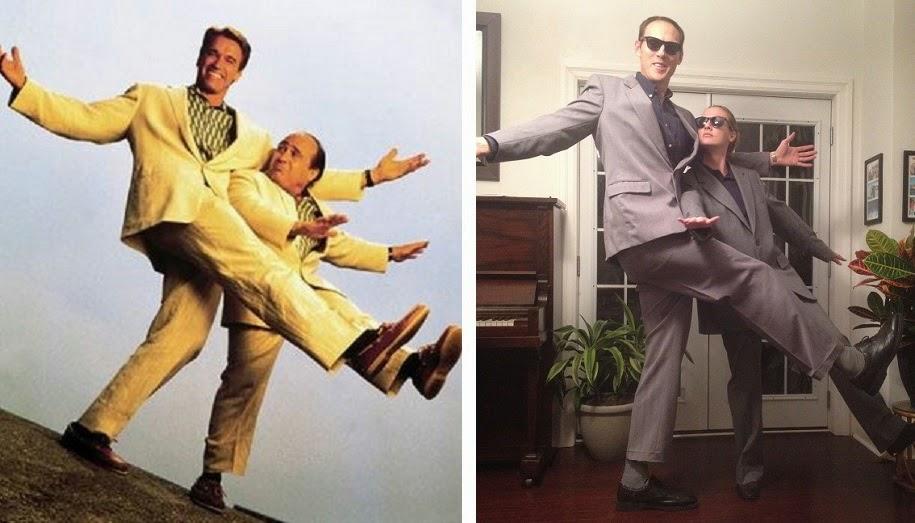Tall Couples Costume, Schwarzenegger and Devito