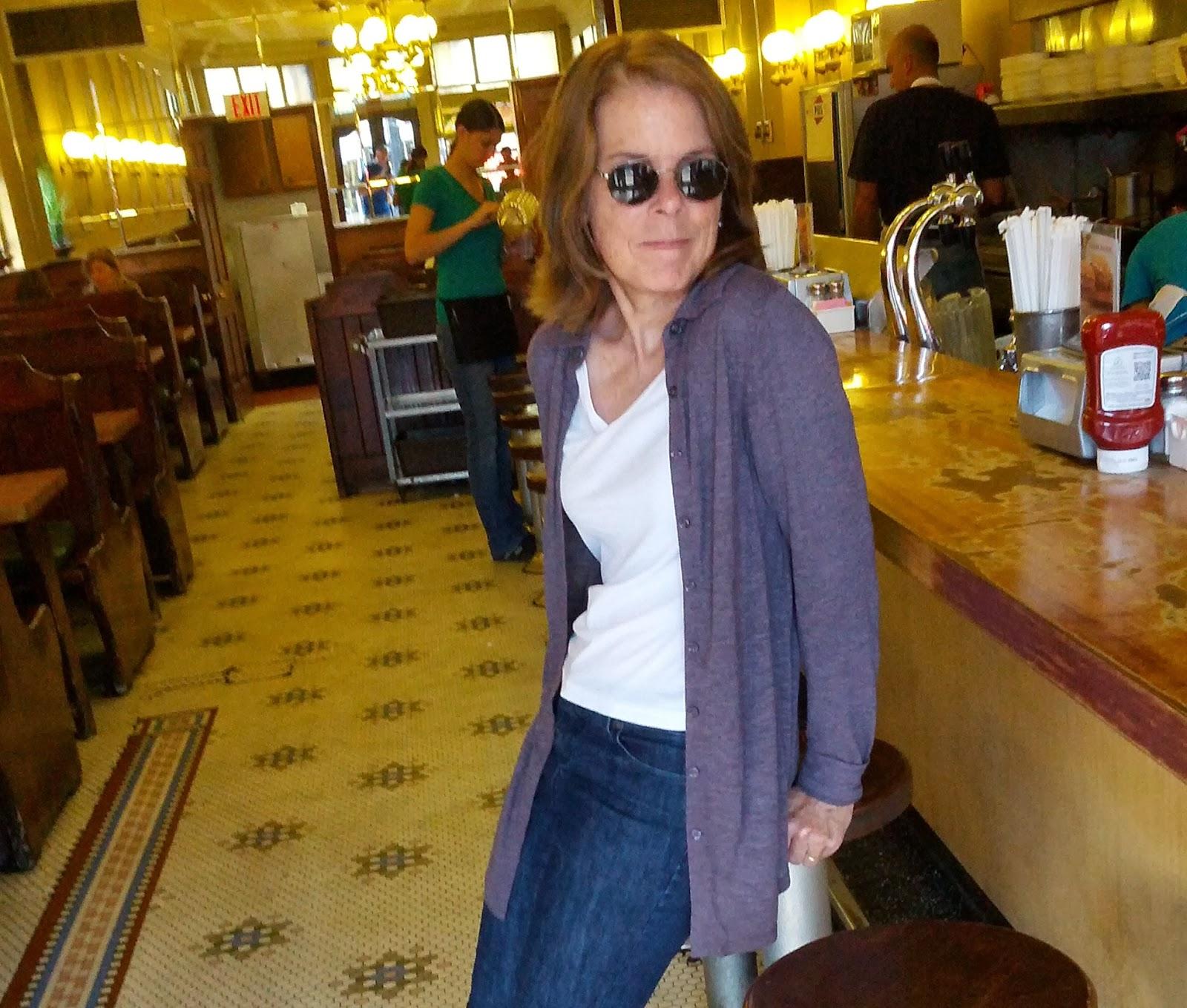 Long lavender sweater for women over 50
