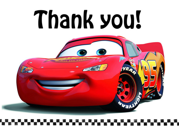 Life with the Depews Ryan Connors 4th Birthday Party – Lightning Mcqueen Birthday Card