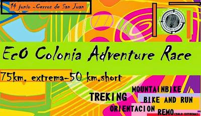 Aventura - Eco Colonia Adventure en Cerros de San Juan (Colonia, 14/jun/2015)