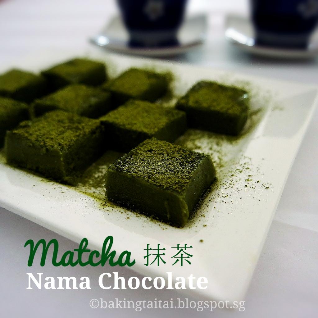 Baking Taitai 烘焙太太: Matcha Nama Chocolate 抹茶生巧克力(中英 ...