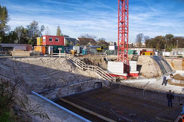 Baustelle City Carré, Wohnungen mit Weitblick, Gartenstraße, Am Nordbahnhof, 10115 Berlin, 31.10.2013