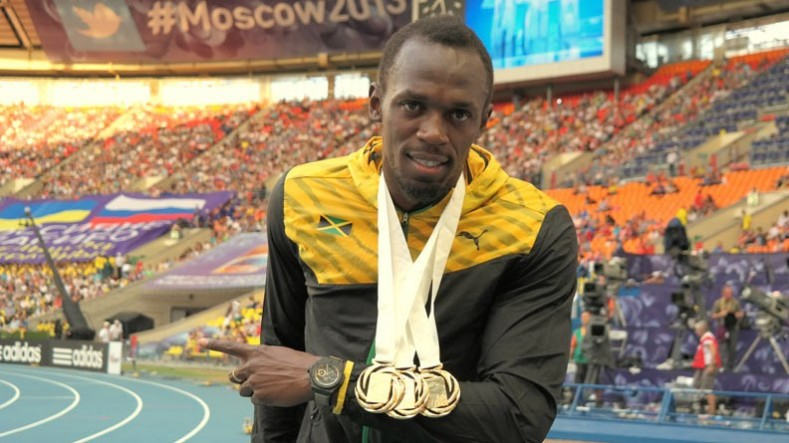 Usain Bolt Gold Medals
